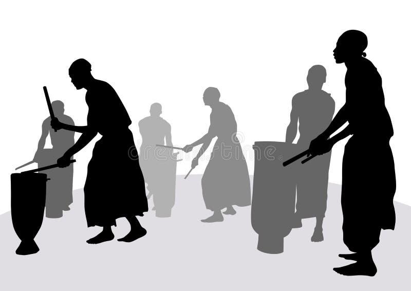 Tambours africains illustration libre de droits