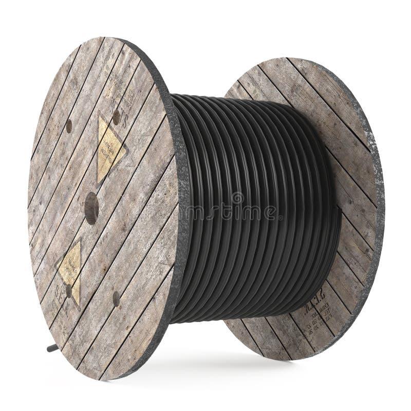 Tambours de câble. Bobine industrielle de tuyau illustration de vecteur