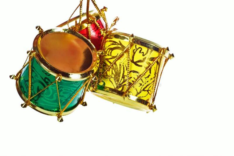 Tambours de Noël photographie stock libre de droits