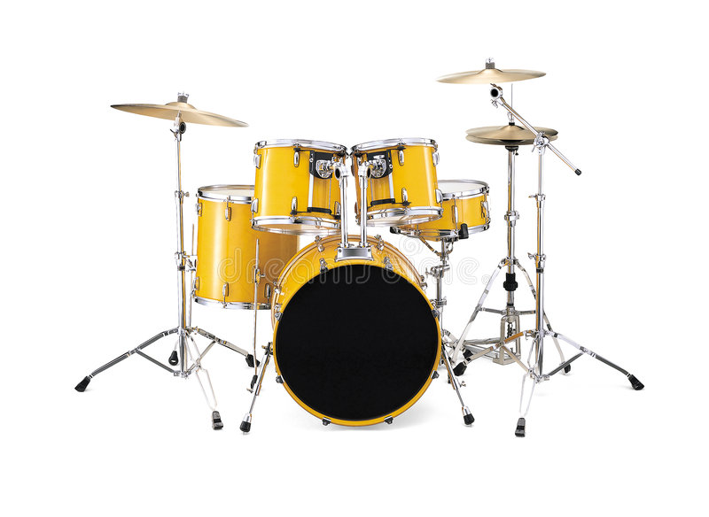 Tambours - jaune image libre de droits