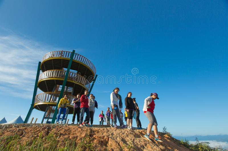 Tambunan Viewpoint. The new best place for tourism around Tambunan district.This place is named Tambunan Viewpoint,Tambunan,Sabah,Malaysia stock photo
