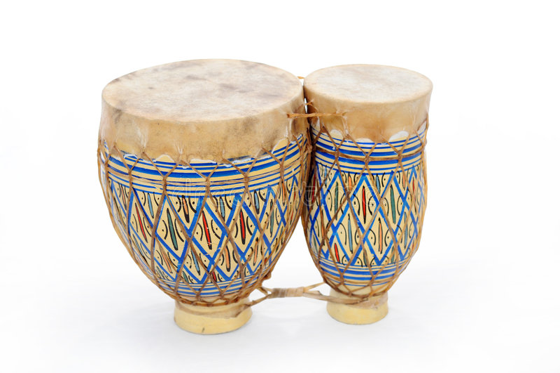 Tamburi africani del bongo immagine stock libera da diritti