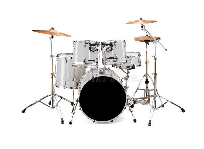 Tamburi bianchi immagini stock