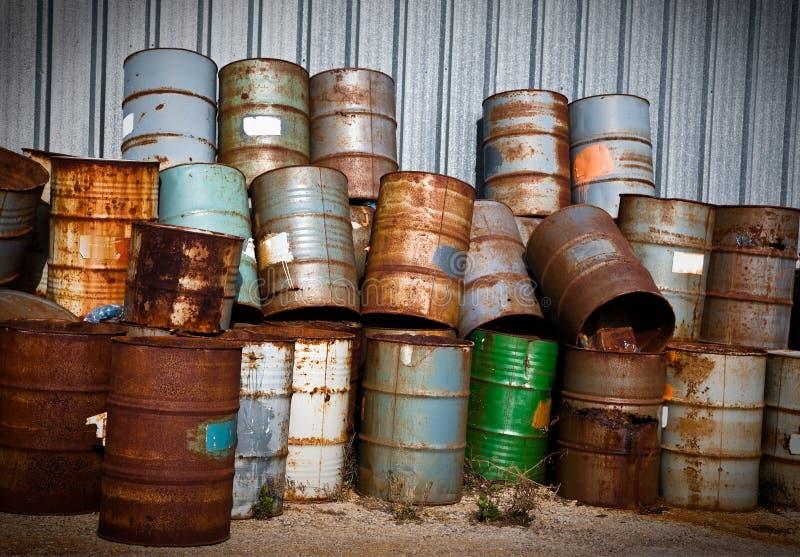 Tamburi chimici immagini stock libere da diritti