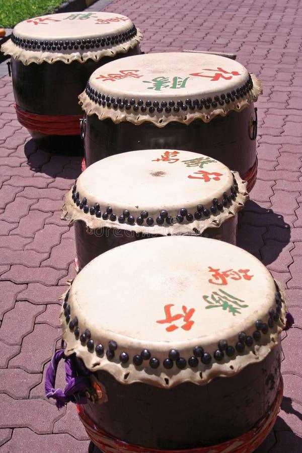 Tamburi cinesi immagini stock