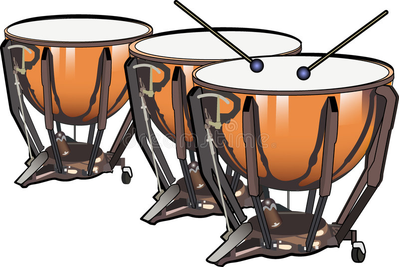 Tamburi della caldaia illustrazione di stock