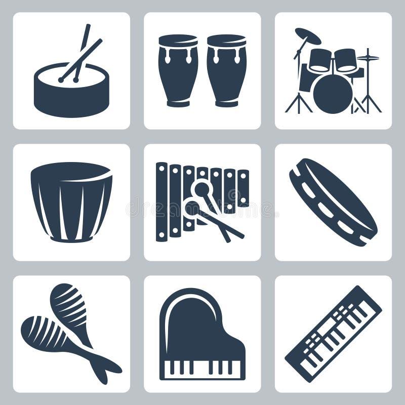 Tamburi e tastiere di vettore illustrazione vettoriale