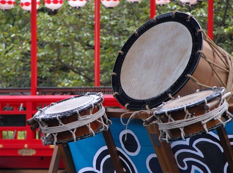 Tamburi giapponesi fotografia stock libera da diritti