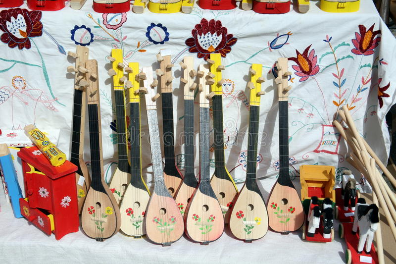 Tamburica, old fashioned Croatian musical instrument royalty free stock photo