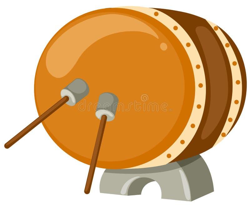 Tamburo con i bastoni del tamburo illustrazione di stock