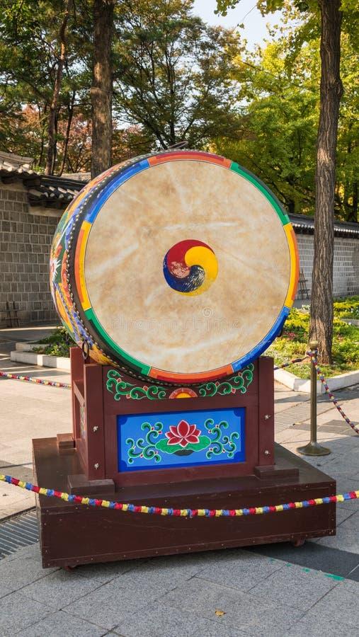 Tamburo coreano di tradional fotografie stock libere da diritti
