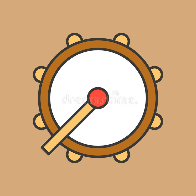 Tamburo del Ramadan, icona del tamburo royalty illustrazione gratis