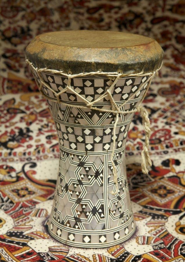 Tamburo egiziano di Dumbek immagini stock