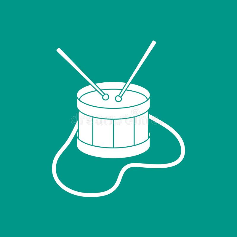 Tamburo Strumento musicale giocattolo illustrazione vettoriale