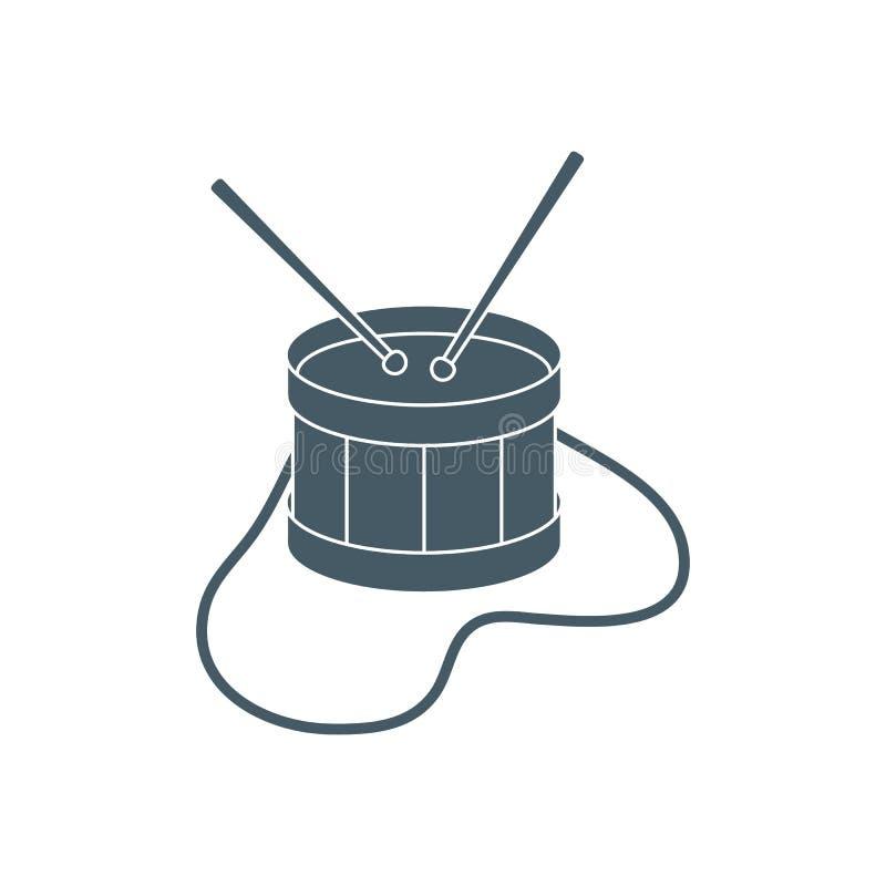 Tamburo Strumento musicale giocattolo illustrazione di stock