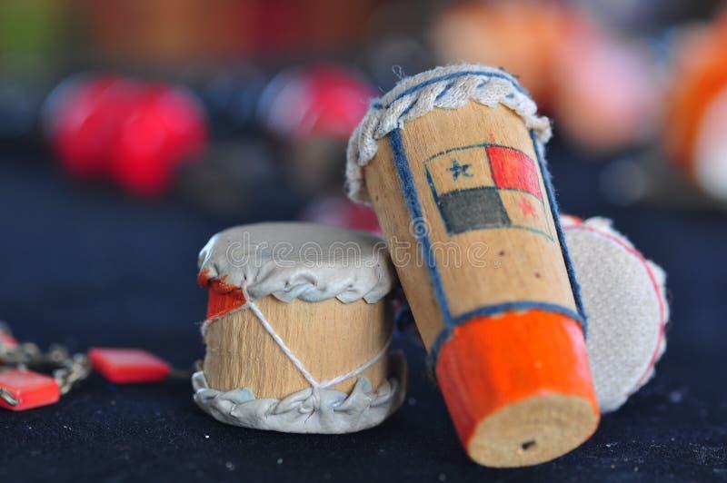 Tamburo tradizionale di musica del Panama fotografie stock libere da diritti