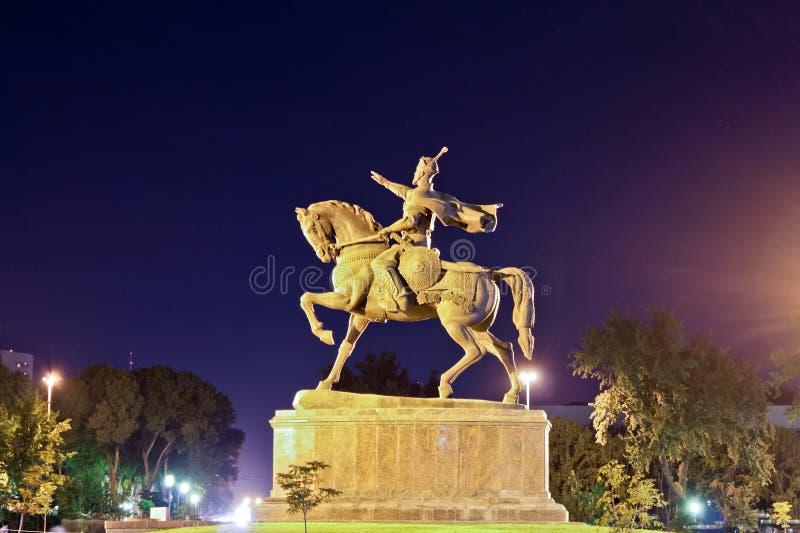 Tamerlan monument in Tashkent stock image