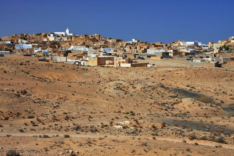 Tamezretwoestijn in Tunesië royalty-vrije stock foto's