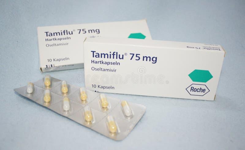 Tamiflu Kapsel lizenzfreies stockbild