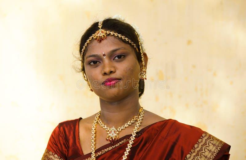 Tamil bruid royalty-vrije stock foto