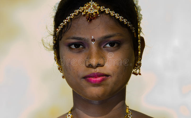 Tamil bruidclose-up royalty-vrije stock foto's