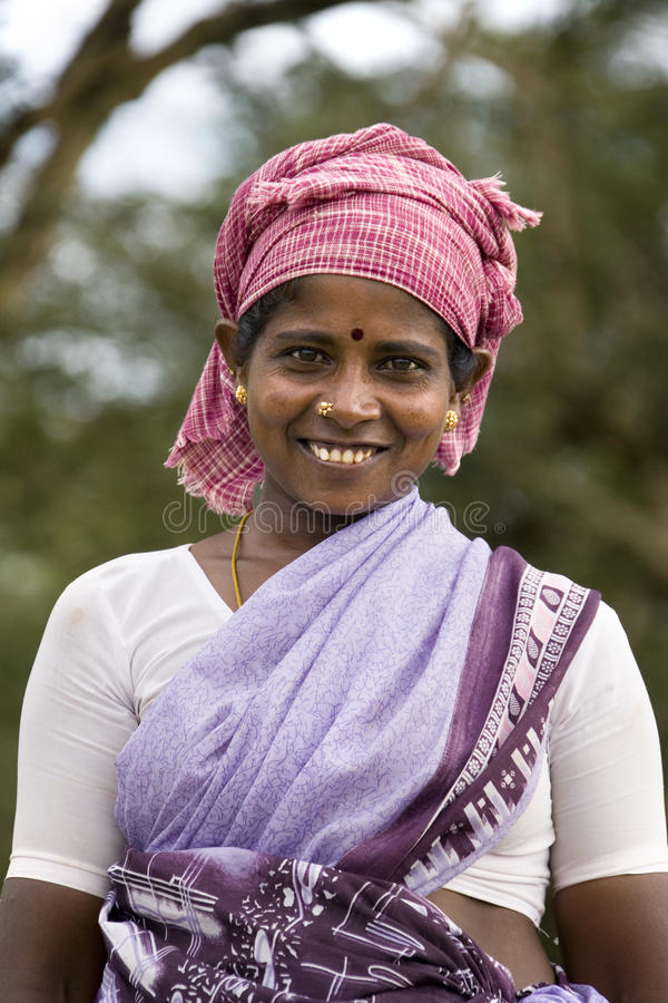 Tamil India woman - Tamil Nadu - India. Local woman in the village of Karaikudi in the Chettinad area of the Tamil Nadu region of southern India stock image