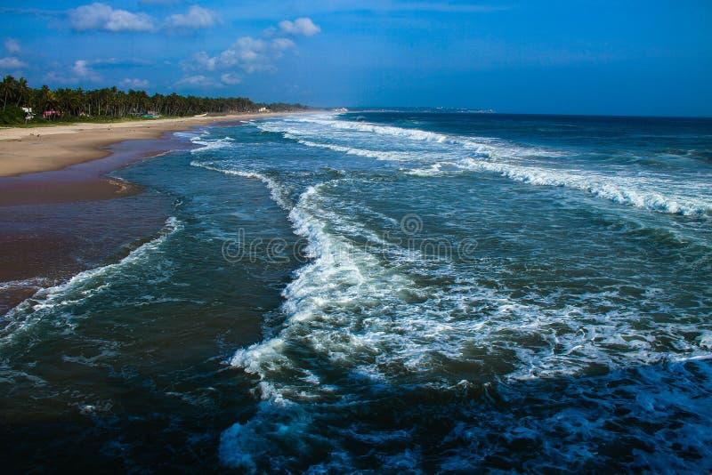 TAMIL NADU, praia de Kanyakumari Muttom da ÍNDIA imagem de stock