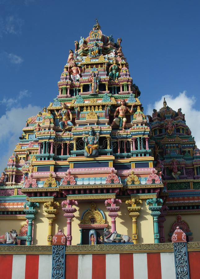 Tamil temple. In mauritius island royalty free stock image