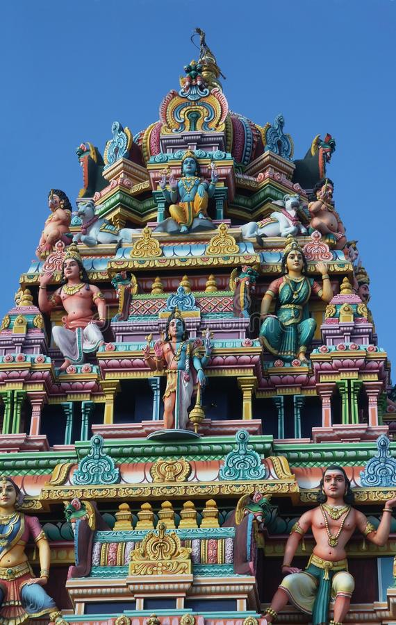 Tamil temple. In mauritius island stock photography