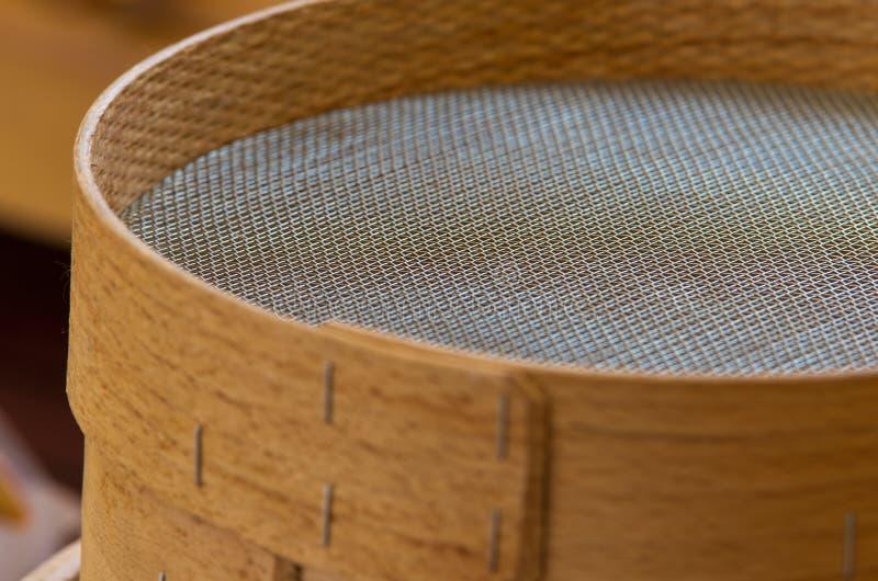 Tamis en bois photographie stock