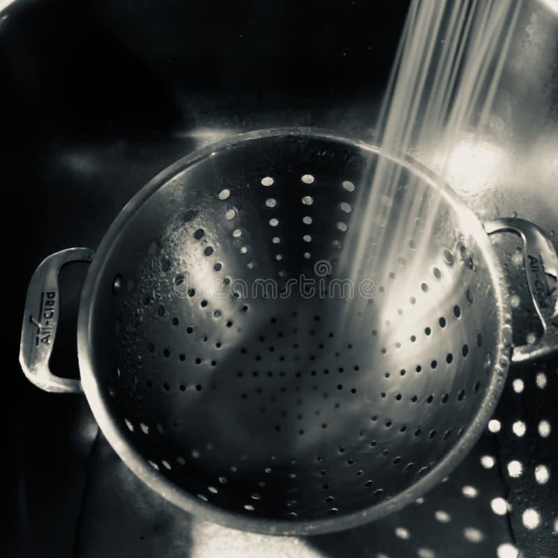 Tamis vide en métal images libres de droits