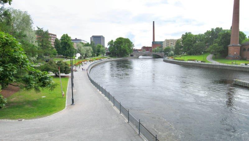 Tammerfors panorama arkivfoton