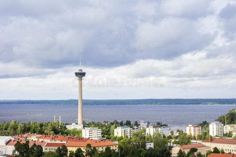 Tammerfors panorama, Hame region, Finland arkivbild