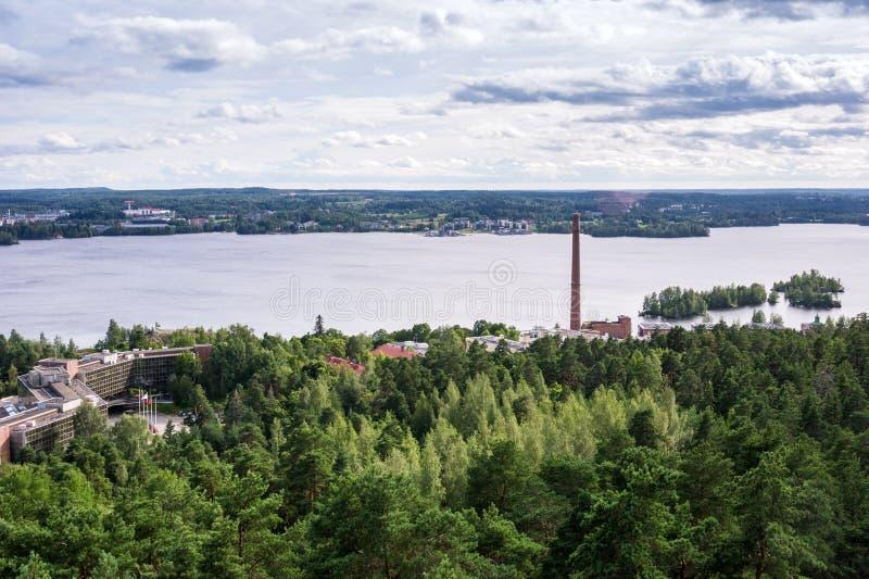 Tammerfors panorama, Hame region, Finland arkivbilder