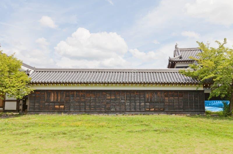 Tamonyagura torn av den Yamato Koriyama slotten, Japan royaltyfri bild