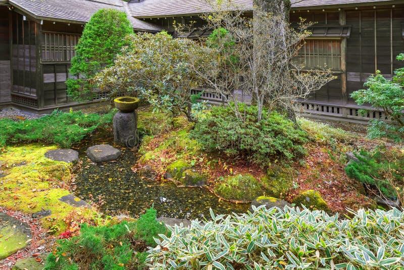 Tamozawa imperialistisk villa i Nikko, Japan arkivfoton