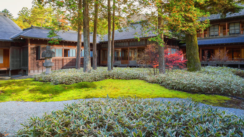 Tamozawa Keizervilla in Nikko, Japan stock afbeelding