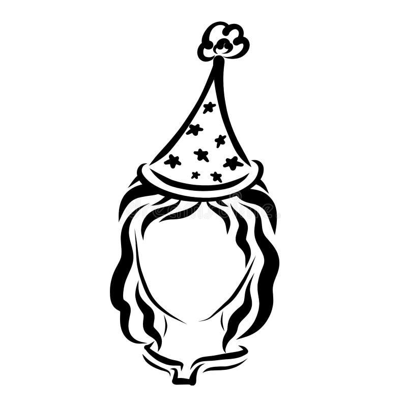 Tampão alto com as estrelas na cabeça da menina ilustração royalty free