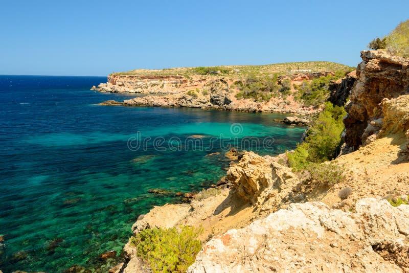 Tampão Blanc, Ibiza, Espanha fotos de stock