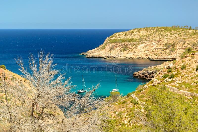 Tampão Blanc, Ibiza, Espanha foto de stock