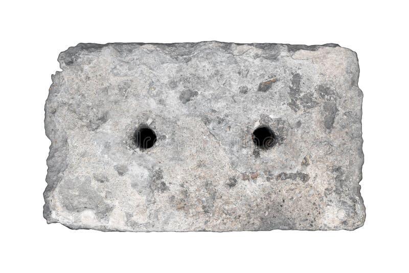 Tampão concreto do dreno isolado fotografia de stock