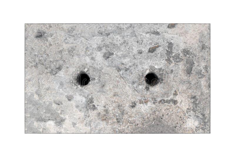 Tampão concreto do dreno isolado fotos de stock