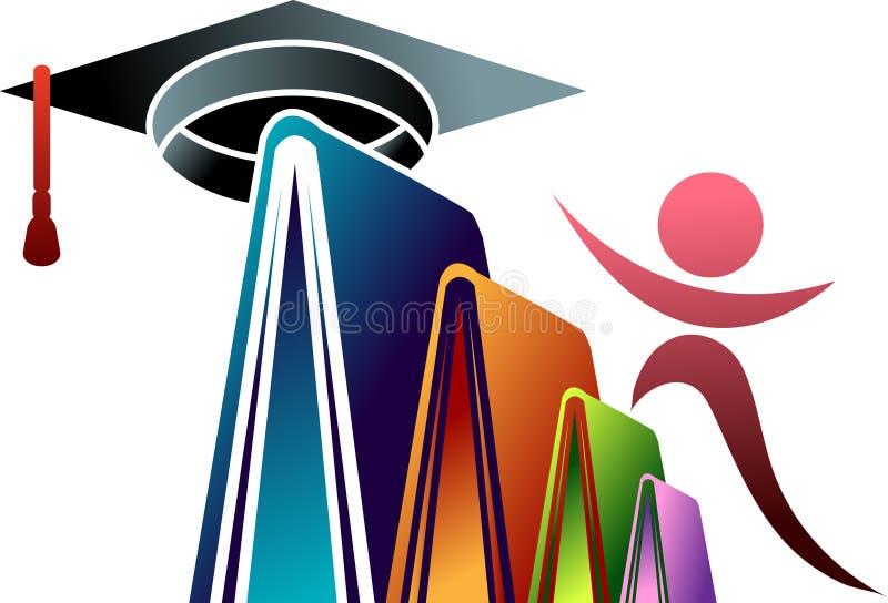 Tampão da educação com estudante ilustração do vetor
