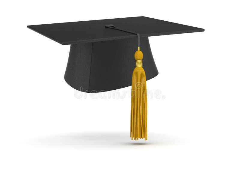 Tampão da graduação (isolado) ilustração royalty free