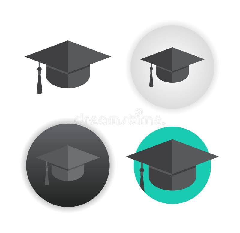 Tampão da graduação no branco ilustração royalty free