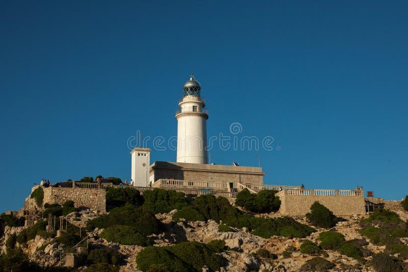 Tampão de Formentor na paisagem da natureza do céu do por do sol em Mallorca do norte Balearic Island, Espanha imagens de stock royalty free