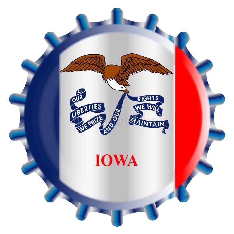 Tampão de garrafa de Iowa ilustração stock