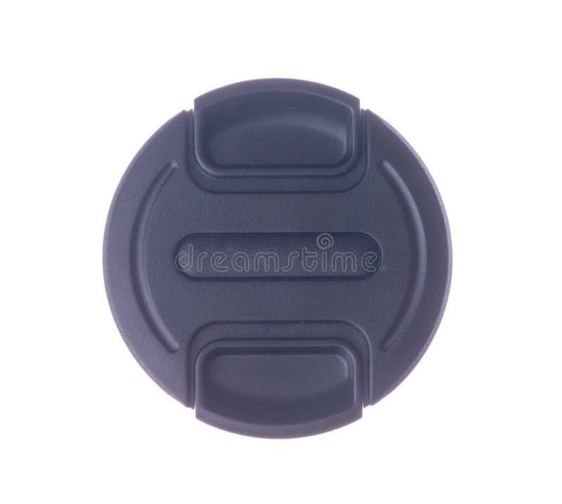 Tampão de lente isolado no fundo branco imagens de stock royalty free