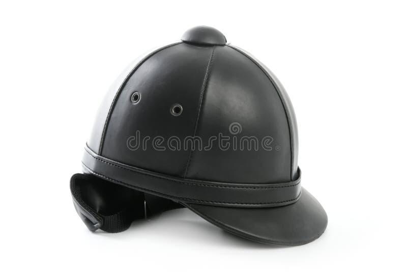 Tampão de livramento preto para cavaleiros do cavalo fotos de stock