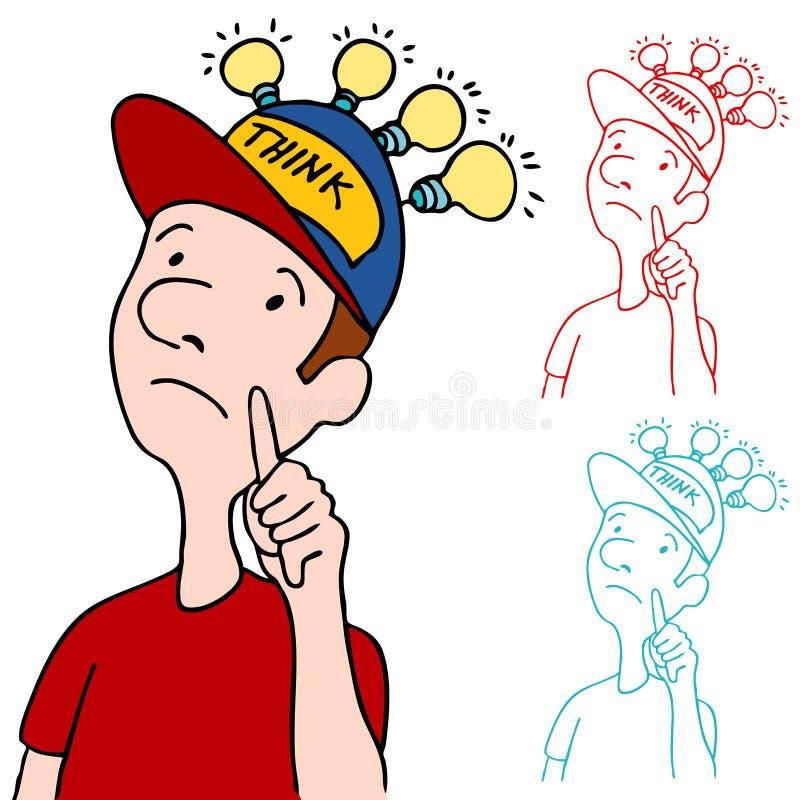 Tampão de pensamento ilustração do vetor